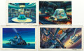 Animation Art:Painted cel background, G.I. Joe and Others Painted Background Color Key Paintings Group of 12 (Marvel, c. 1983-87).... (Total: 12 Items)