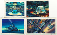 G.I. Joe and Others Painted Background Color Key Paintings Group of 12 (Marvel, c. 1983-87).... (Total: 12 Items)
