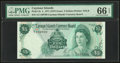 Cayman Islands Currency Board 5 Dollars 1971 (ND 1972) Pick 2a PMG Gem Uncirculated 66 EPQ
