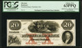 Obsoletes By State:Massachusetts, Pittsfield, MA- Pittsfield Bank $20 June 1, 1853 G20a Proof PCGS Choice New 63PPQ.. ...