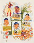 Baseball Collectibles:Others, 1989 Perez-Steele Celebration Book Signed by 21 Hall of Famers. ...