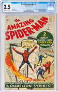 Silver Age (1956-1969):Superhero, The Amazing Spider-Man #1 (Marvel, 1963) CGC GD+ 2.5 Off-white to white pages....