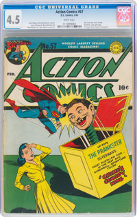 Action Comics #57 (DC, 1943) CGC VG+ 4.5 White pages