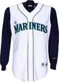 Baseball Collectibles:Uniforms, 1999 Ken Griffey Jr. Game Worn & Signed Seattle Mariners Jersey with Undershirt & Griffey Letter. ...