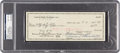 """Football Collectibles:Others, 1960 Vince Lombardi Signed Green Bay Packers Check Payable to Bobby """"Goose"""" Freeman, PSA/DNA NM-MT 8...."""