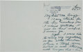 Baseball Collectibles:Others, 1945 Tom Yawkey Handwritten & Signed Letter to Walter Briggs, Sr....