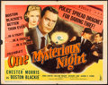 "Movie Posters:Mystery, One Mysterious Night (Columbia, 1944). Folded, Fine/Very Fine. Half Sheet (22"" X 28""). Mystery.. ..."