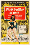 "Movie Posters:Musical, Paris Follies of 1956 (Allied Artists, 1956). Folded, Very Fine-. One Sheet (27"" X 41""). Musical.. ..."