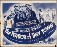 """The Terror of Tiny Town (Columbia, 1937). Fine. Trimmed Half Sheet (Approx. 22"""" X 26.75""""). Western"""
