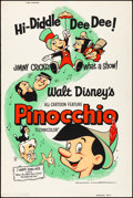 """Movie Posters:Animation, Pinocchio (Buena Vista, R-1962). Rolled, Fine/Very Fine. Silk Screen Poster (30"""" X 40""""). Animation.. ..."""