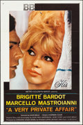 "Movie Posters:Foreign, A Very Private Affair (MGM, 1962). Folded, Fine/Very Fine. One Sheet (27"" X 41""). Foreign.. ..."