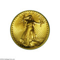 High Relief Double Eagles: , 1907 $20 High Relief, Flat Rim MS65 PCGS....