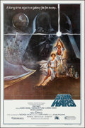 """Movie Posters:Science Fiction, Star Wars (20th Century Fox, 1977). Folded, Very Fine+. Second Printing One Sheet (27"""" X 41"""") Style A, Tom Jung Artwork. Sci..."""