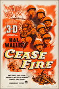 Movie Posters:War, Cease Fire! (Paramount, 1953). Folded, Very Fine-....