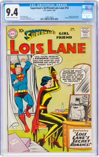 Superman's Girlfriend Lois Lane #14 (DC, 1960) CGC NM 9.4 Cream to off-white pages