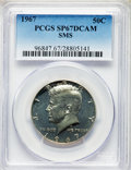 SMS Kennedy Half Dollars, 1967 50C SMS SP67 Deep Cameo PCGS. PCGS Population: (103/17). NGC Census: (208/28)....