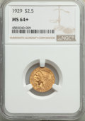 Indian Quarter Eagles: , 1929 $2 1/2 MS64+ NGC. NGC Census: (2818/287 and 87/4+). PCGS Population: (2035/225 and 148/12+). MS64. Mintage 532,000. ...