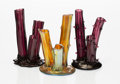 Art Glass:Steuben, A Group of Three Steuben Glass Tree Trunk Vases, early 20th century. Marks to one: aurene. 6 x 4 inches (15.2 x 10.2 cm)... (Total: 3 Items)
