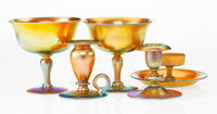 Five Steuben Gold Aurene Glass Table Items, early 20th century Marks: aurene engraved all undersides; <... (Total...