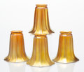 Art Glass:Steuben, A Set of Four Steuben Gold Aurene Glass Shades, early 20th century. 5-1/2 x 5 inches (14.0 x 12.7 cm) (each). A COLLECTION... (Total: 4 Items)