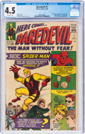 Silver Age (1956-1969):Superhero, Daredevil #1 (Marvel, 1964) CGC VG+ 4.5 Off-white pages....