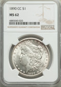 Morgan Dollars: , 1890-CC $1 MS62 NGC. NGC Census: (1533/2702). PCGS Population: (2721/6714). CDN: $550 Whsle. Bid for problem-free NGC/PCGS ...