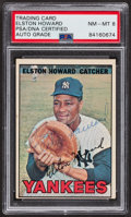 Autographs:Sports Cards, Signed 1967 Topps Elston Howard #25 PSA/DNA Auto NM-MT 8. ...