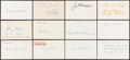Autographs:Index Cards, Signed Baseball Stars & Hall of Famers Index Card Collection (10) Plus Bonus. ...