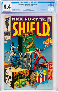 Nick Fury, Agent of S.H.I.E.L.D. #1 (Marvel, 1968) CGC NM 9.4 Off-white to white pages