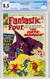 Fantastic Four #21 (Marvel, 1963) CGC VF+ 8.5 Off-white pages