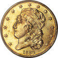 Early Half Eagles, 1832 $5 Square Base 2, 13 Stars, BD-1, R.5, MS64 PCGS. CAC....
