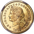 Proof Four Dollar Gold Pieces, 1879 $4 Flowing Hair, Judd-1635, Pollock-1833, JD-1, R.3, PR65 NGC....