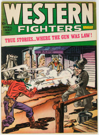 Western Fighters #1 (Hillman Fall, 1948) Condition: FN