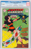 Silver Age (1956-1969):Superhero, Justice League of America #60 (DC, 1968) CGC NM 9.4 White pages....