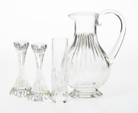 A Group of Four Baccarat Massena Pattern Glass Table Items, late 20th century Mar