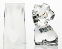 Two Baccarat Glass Torso Sculptures, late 20th century Marks: (BACCARAT-logo-FRANCE) 9 x 6 x 2 inches (22.9 x