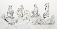 A Group of Seven Baccarat Glass Figures of Women, late 20th century Marks: (BACCARAT-logo-FRANCE), Baccarat RRi