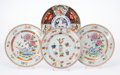 Asian, A Group of Four Chinese Export Porcelain Plates, late 18th century. 3/4 x 9-1/8 x 9-1/8 inches (1.9 x 23.2 x 23.2 cm) (large... (Total: 4 Items)