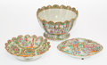 Ceramics & Porcelain, A Group of Three Chinese Export Famille Rose Porcelain Bowls, late 19th century. 6-3/4 x 10-1/2 x 10-1/2 inches (17.1 x 26.7... (Total: 3 Items)
