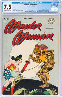 Wonder Woman #18 (DC, 1946) CGC VF- 7.5 Off-white to white pages
