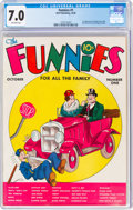 Platinum Age (1897-1937):Miscellaneous, The Funnies #1 (Dell, 1936) CGC FN/VF 7.0 Off-white pages....