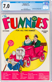 The Funnies #1 (Dell, 1936) CGC FN/VF 7.0 Off-white pages