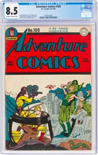 Adventure Comics #100 (DC, 1945) CGC VF+ 8.5 Off-white to white pages
