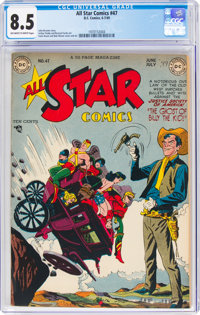All Star Comics #47 (DC, 1949) CGC VF+ 8.5 Off-white to white pages