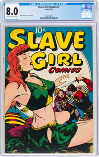 Slave Girl Comics #1 (Avon, 1949) CGC VF 8.0 Off-white to white pages