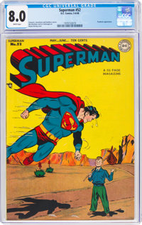 Superman #52 (DC, 1948) CGC VF 8.0 White pages