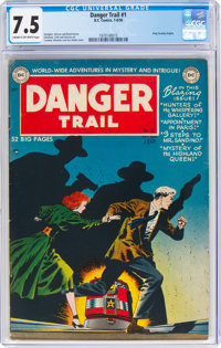 Danger Trail #1 (DC, 1950) CGC VF- 7.5 Cream to off-white pages