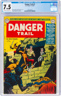 Danger Trail #3 (DC, 1950) CGC VF- 7.5 Off-white to white pages