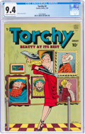 Golden Age (1938-1955):Humor, Torchy #2 (Quality, 1950) CGC NM 9.4 Cream to off-white pages....