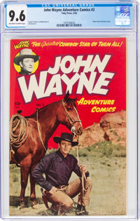 John Wayne Adventure Comics #2 (Toby Publishing, 1950) CGC NM+ 9.6 Off-white to white pages